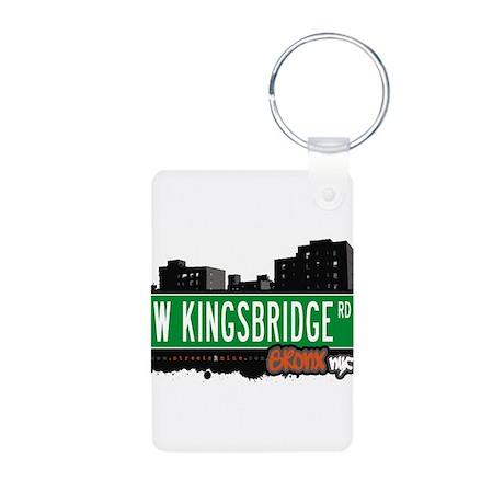 W Kingsbridge Rd Aluminum Photo Keychain