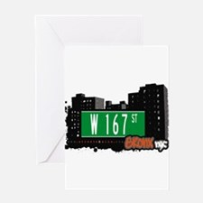 W 167 ST Greeting Card