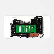 W 174 ST Aluminum License Plate