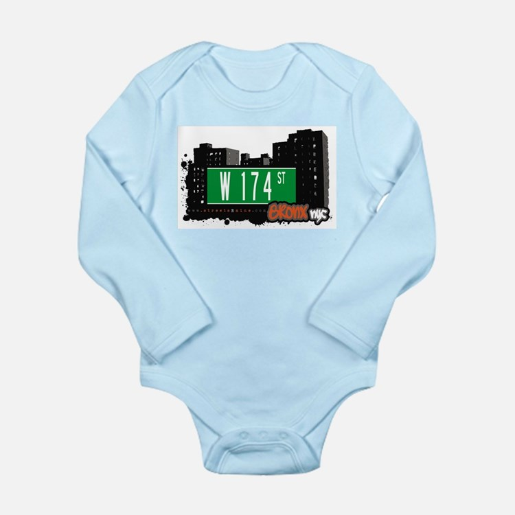 W 174 ST Long Sleeve Infant Bodysuit