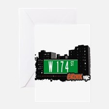 W 174 ST Greeting Card