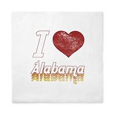 I Love Alabama (Vintage) Queen Duvet