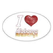 I Love Alabama (Vintage) Decal