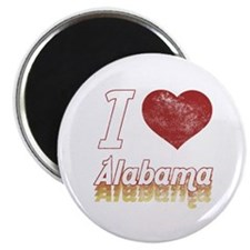 I Love Alabama (Vintage) Magnet