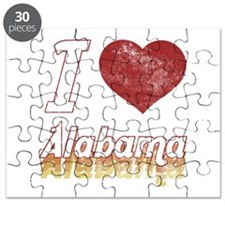 I Love Alabama (Vintage) Puzzle