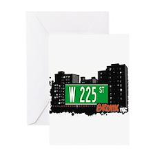 W 225 ST Greeting Card