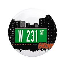 """W 231 ST 3.5"""" Button"""