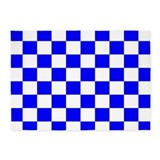 Blue and white checkerboard carpet 5x7 Rugs