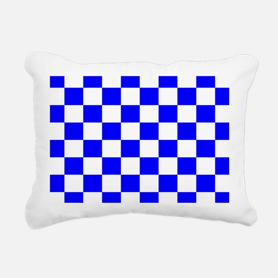 Blue and white checkerboard Rectangular Canvas Pil