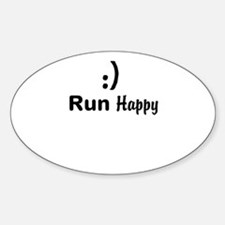 Run Happy Running Decal