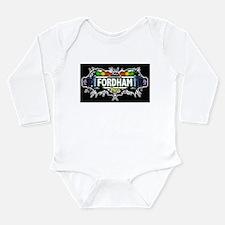 fordham Bronx NYC (Black) Long Sleeve Infant Bodys