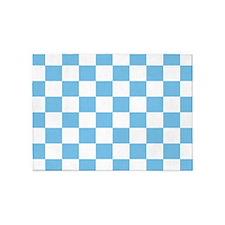 Sky Blue Checkerboard 5'x7'Area Rug