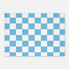 Sky Blue Checkerboard 5'x7'Area Rug