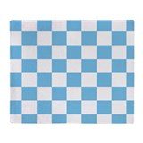 Blue white checkerboard blanket Blankets