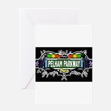 pelham parkway Bronx NYC (Black) Greeting Card