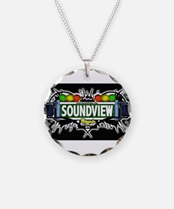 Soundview Bronx NYC (Black) Necklace