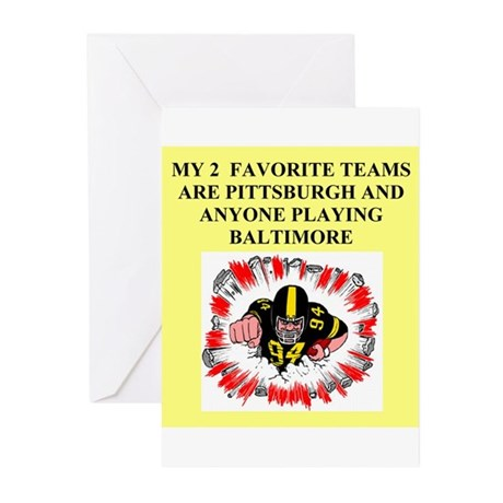 steeler gifts and t-shirts Greeting Cards (Package