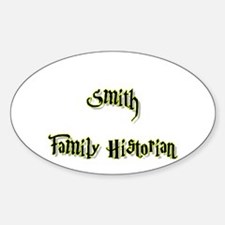 Smith Family Historian Oval Decal