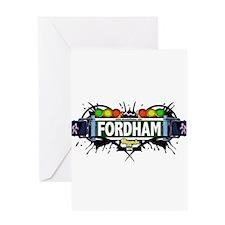 Fordham Bronx NYC (White) Greeting Card