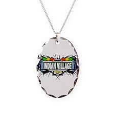 Indian Village Bronx NYC (White) Necklace