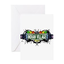 Indian Village Bronx NYC (White) Greeting Card