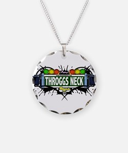 Throggs Neck Bronx NYC (White) Necklace