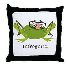 Infrognito Throw Pillow