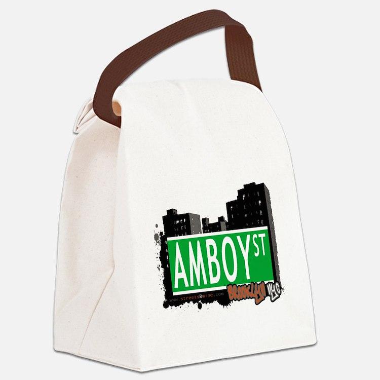 AMBOY street, Brooklyn, NYC Canvas Lunch Bag