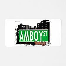 AMBOY street, Brooklyn, NYC Aluminum License Plate