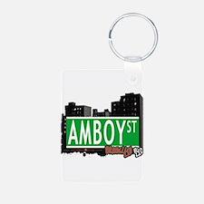 AMBOY street, Brooklyn, NYC Keychains