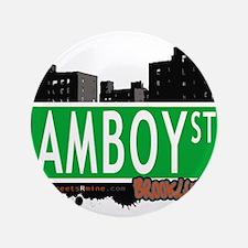 """AMBOY street, Brooklyn, NYC 3.5"""" Button"""