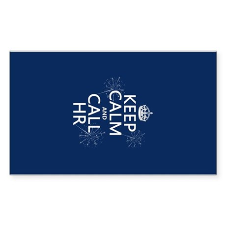 Keep Calm and Call H.R. Sticker (Rectangle)