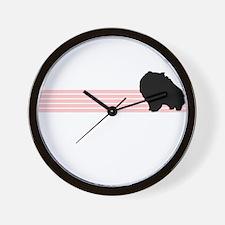 Retro Pomeranian Wall Clock