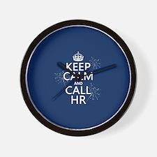 Keep Calm and Call H.R. Wall Clock