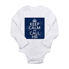 Keep Calm and Call H.R. Long Sleeve Infant Bodysui