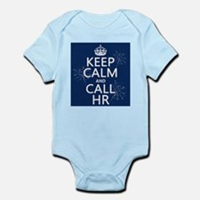 Keep Calm and Call H.R. Infant Bodysuit