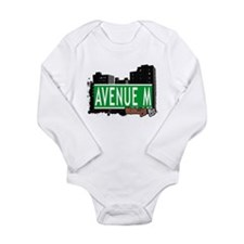 Avenue M, Brooklyn, NYC Long Sleeve Infant Bodysui
