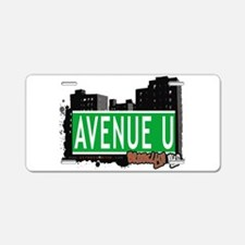 Avenue U, Brooklyn, NYC Aluminum License Plate