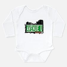 Avenue U, Brooklyn, NYC Long Sleeve Infant Bodysui