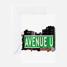 Avenue U, Brooklyn, NYC Greeting Card