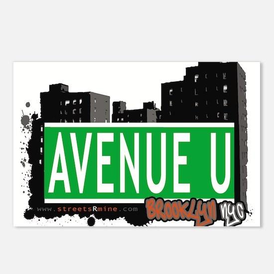 Avenue U, Brooklyn, NYC Postcards (Package of 8)