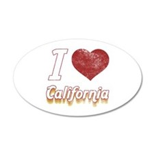 I Love California (Vintage) Wall Decal