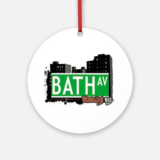 Bath avenue, BROOKLYN, NYC Ornament (Round)