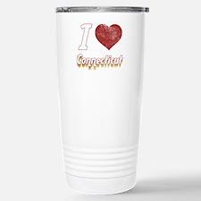 I Love Connecticut (Vintage) Travel Mug