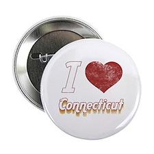 """I Love Connecticut (Vintage) 2.25"""" Button"""