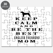 Keep Calm English Foxhound Designs Puzzle
