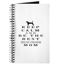 Keep Calm English Foxhound Designs Journal