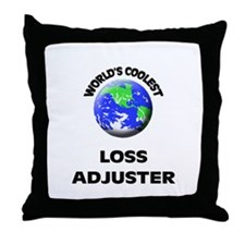 World's Coolest Loss Adjuster Throw Pillow