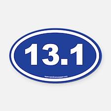 13 Oval Car Magnet