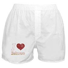 I Love Delaware (Vintage) Boxer Shorts